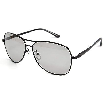 acba8daa3a VOLCHIEN Photochromic Aviator Sunglasses for Men Women Polarized UV400  Protection Black Metal Frame with Spring Hinge