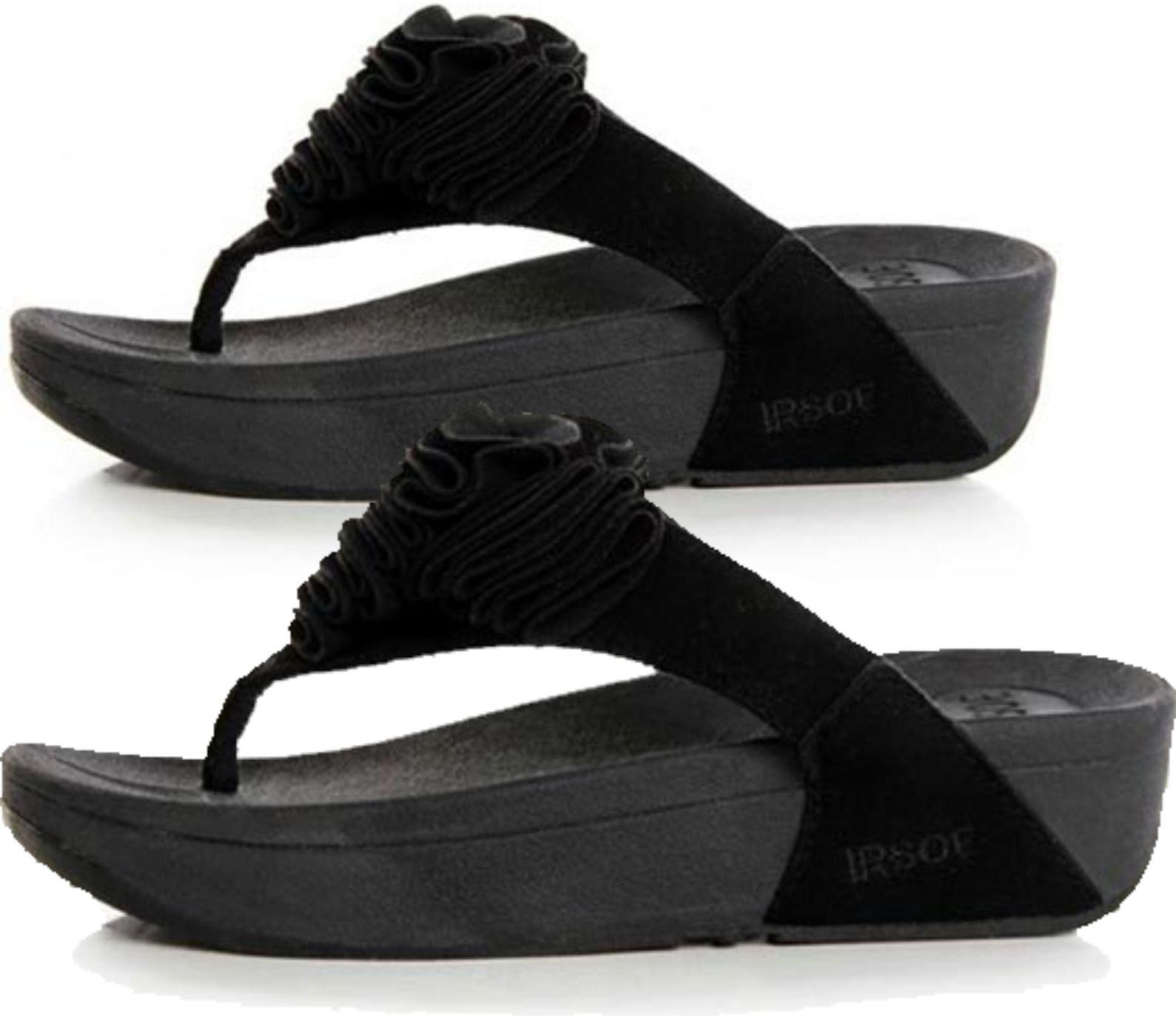 Black Toning FLIP Flops Ladies Womens