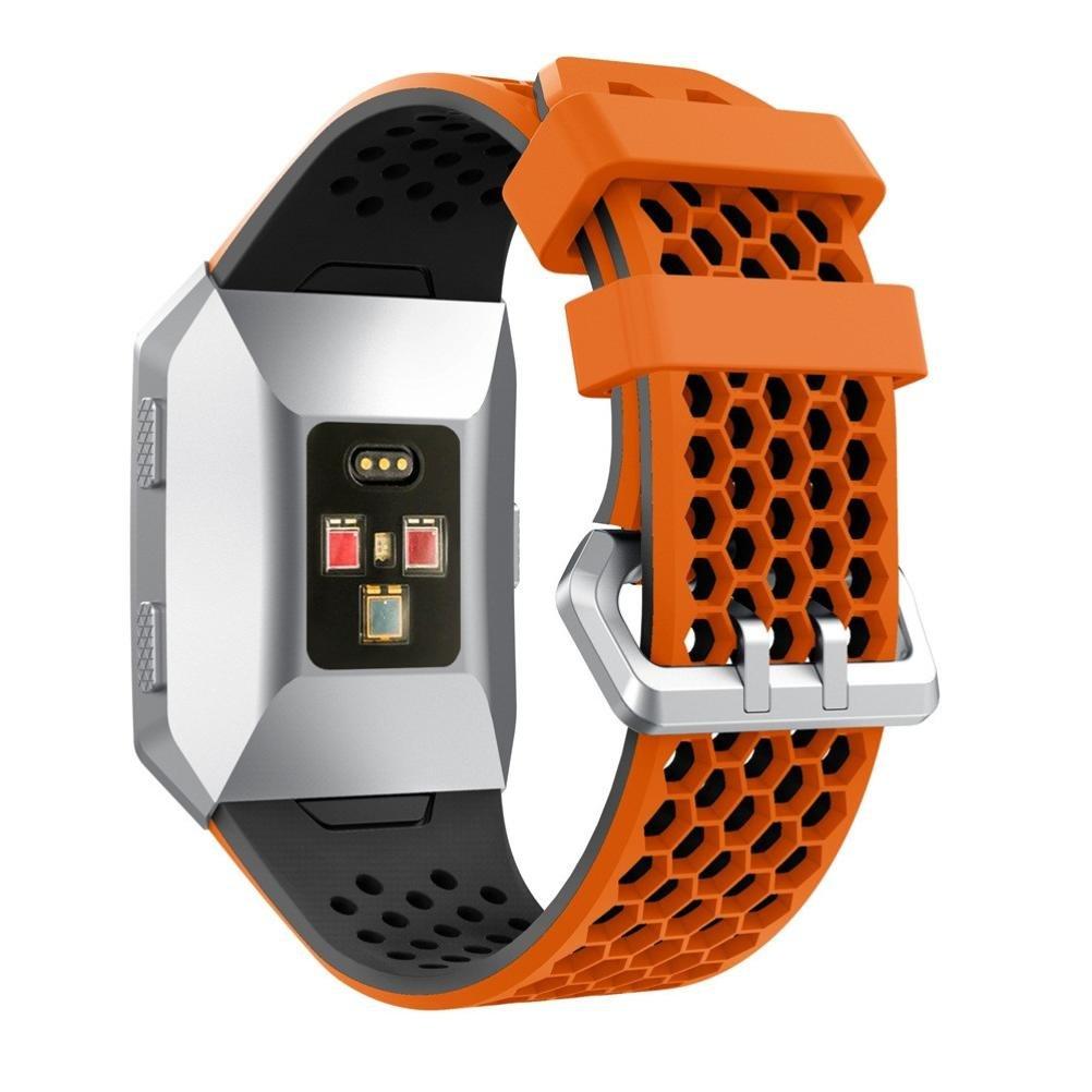 yjydada軽量履き時計バンド、シリコン穴あきアクセサリースポーツバンドFitbit Ionic 145-210mm オレンジ  オレンジ B0785PZLB2