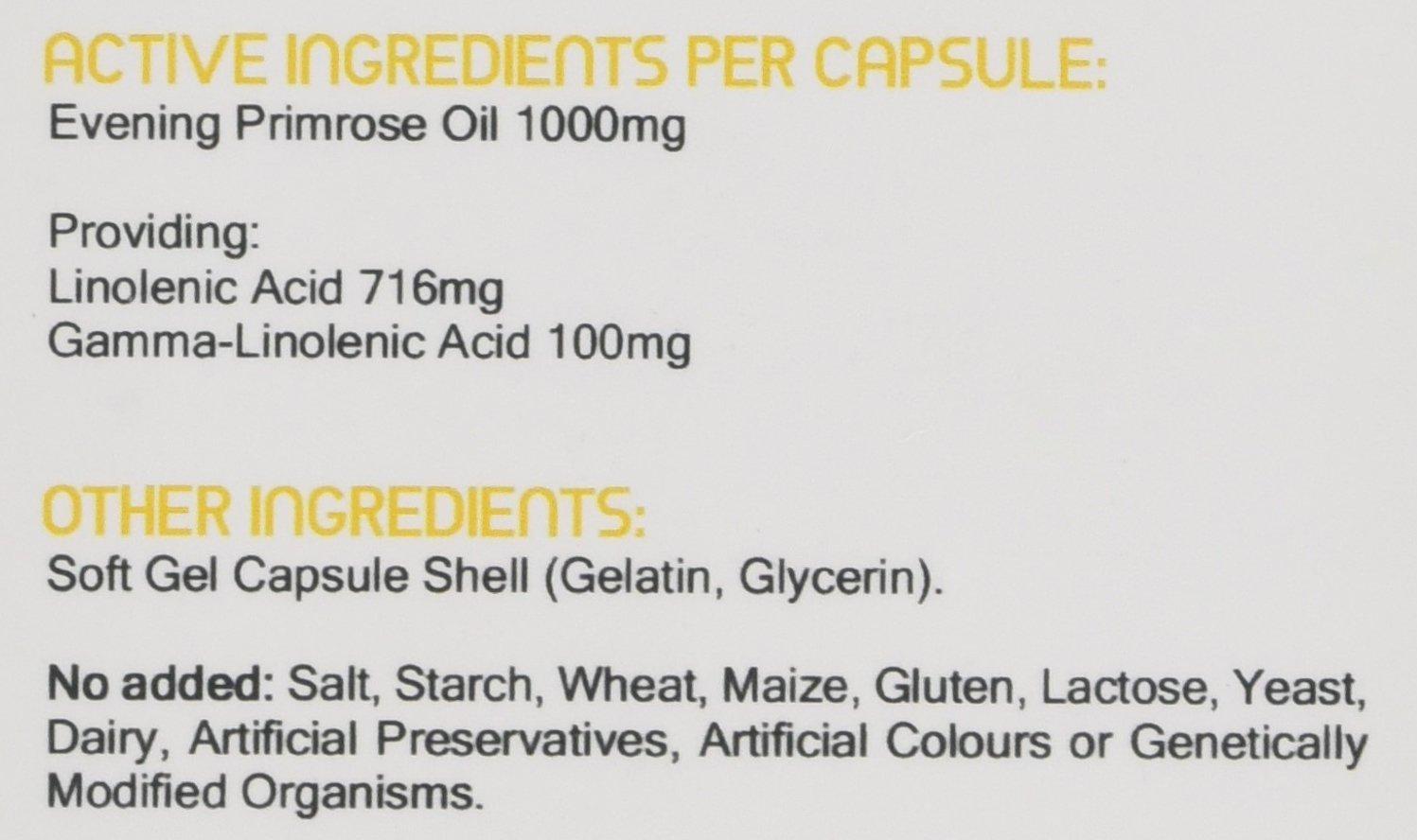 Aceite de prímula de noche de Prowise 1000mg 90 cápsulas - Apoya niveles equilibrados de la hormona, salud menstrual en las mujeres - Reino Unido ...