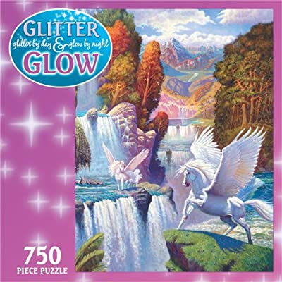 Ceaco 750 Piece Glitter & Glow Puzzle: Toys & Games