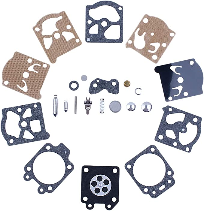 Haishine Carb Rebuild Repair Kit se Ajusta al carburador para Husqvarna 51 y 55 Walbro WT-170
