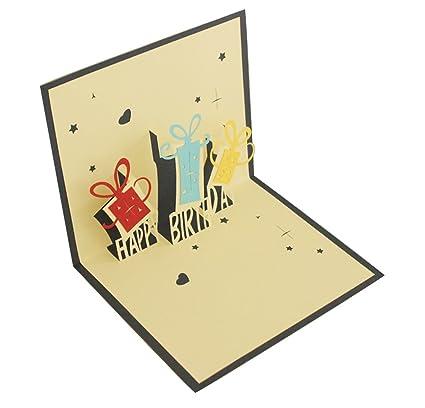 3d feliz cumpleaños caja de regalo - Tarjeta de felicitación ...