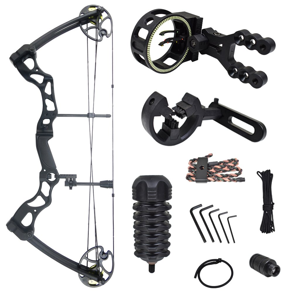 iGlow 40-70 lbs Black Archery Hunting Compound Bow with Premium Kit 175 150 60 55 30 lb Crossbow