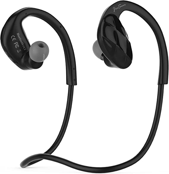 JinSun Bluetooth 4.2 Headset Ultra-Light Wireless Sport MP3 Headphones with MIC and Volume Control