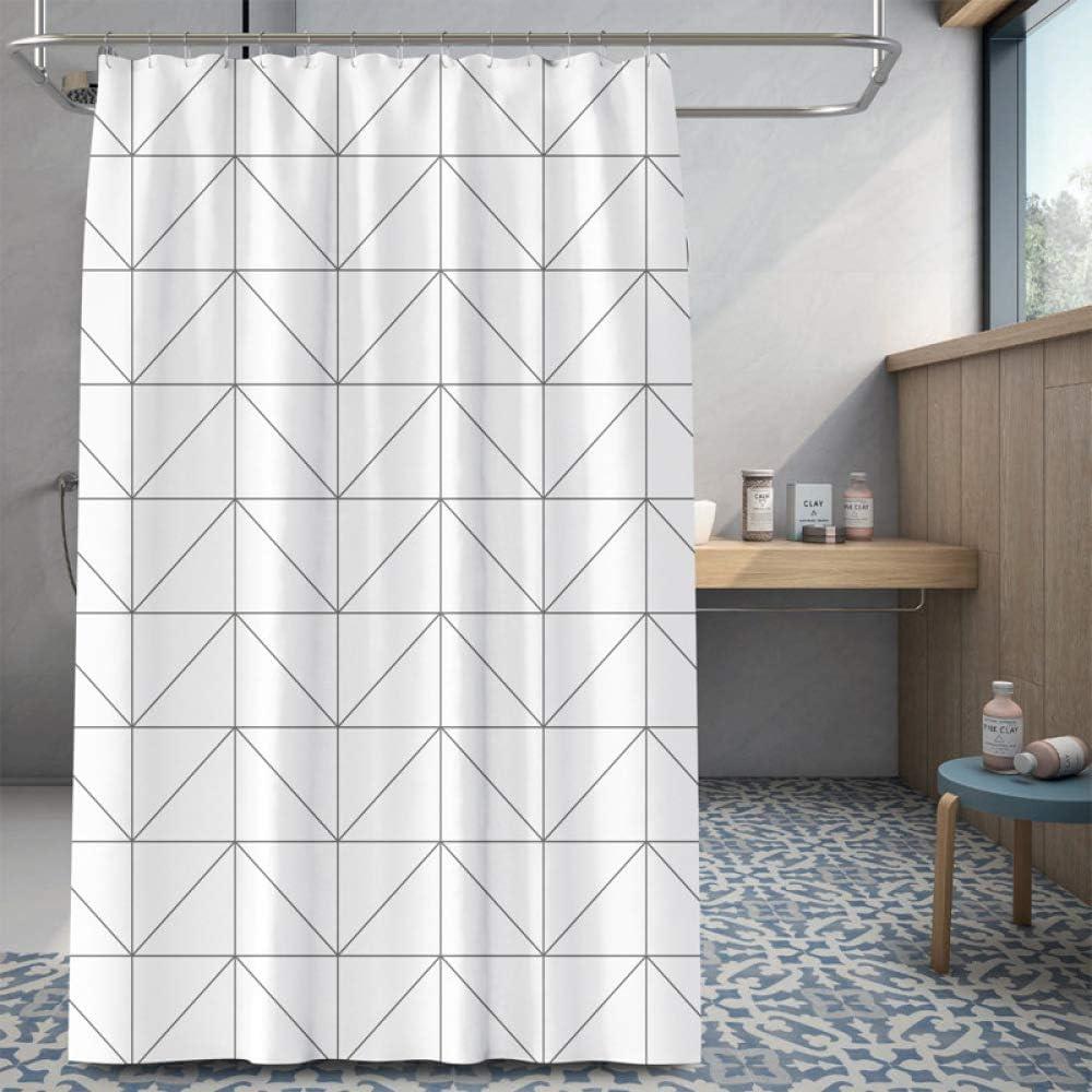 XUJUANA Cortina de baño mampara baño Producto Impermeable con Gancho decoración baño 80X180CM: Amazon.es: Hogar