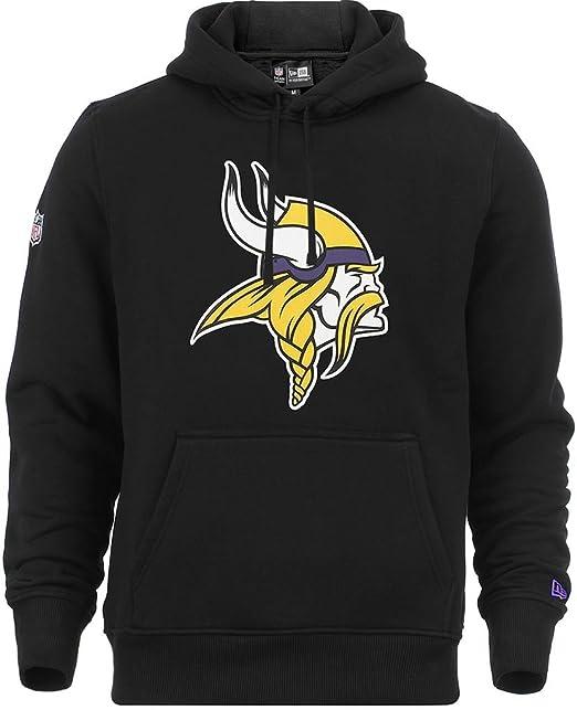 New Era - Sudadera con capucha con logotipo del equipo Minnesota Vikings de la NFL, color negro: Amazon.es: Ropa y accesorios