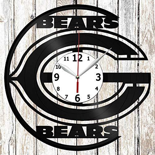 Chicago Bears Vinel Record Wall Clock Home Art Decor Original Gift Unique Design Handmade Vinyl Clock Black Exclusive Clock Fan Art