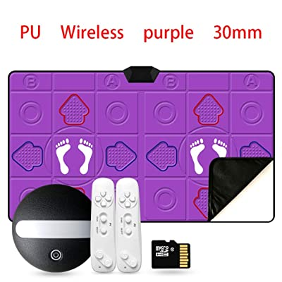 Dance mat Quality 2020 Double, Thickened Luminous Dance Rug Tv Game Somatosensory Hand Dance Dance Machine -2020 (Color : Purple, Size : 30MM): Home & Kitchen