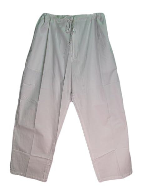 Amazon.com: Hombres Cordón Blanco de la cintura Yoga algodón ...