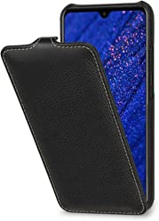 StilGut Custodia per Huawei Mate 20 Lite Flip Case Verticale in Pelle, Nero