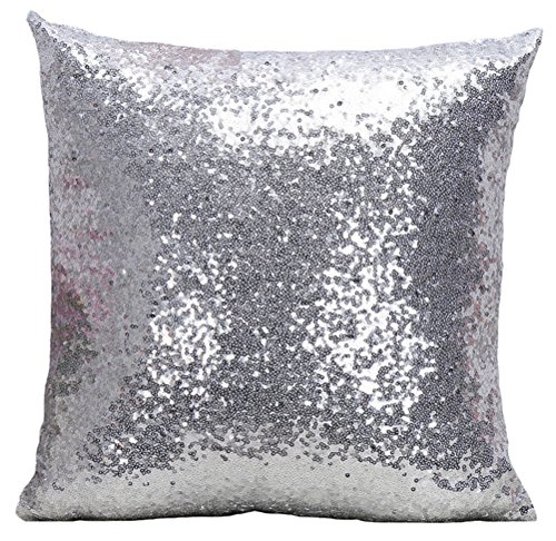 Multi-size Glitter Sequin Cushion Cover LivebyCare Satin Sparkling Throw Pillow Case Sham Pattern Zipper Pillowslip Pillowcase For Decor Decorative Bed Family Room (For Choosing Bed Pillows)