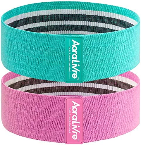 Aora Livre Fabric Resistance Bands for Legs Butt Glute Squats Workout Exercise Bands for Women Indoor Fitness