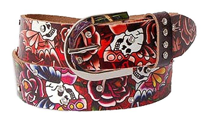 0c22cb53db2a Ed Hardy Ceinture femme casual belt leather copper multicolor ...
