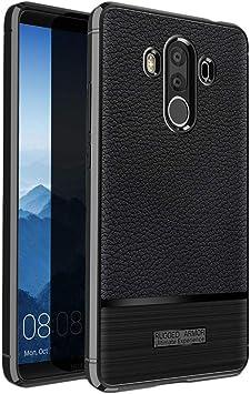 ebestStar - Funda Compatible con Huawei Mate 10 Pro 2017 Carcasa Silicona Gel, Protección Diseño Cuero Ultra Slim Case, Negro [Aparato: 154.2 x 74.5 x 7.9mm, 6.0]: Amazon.es: Electrónica