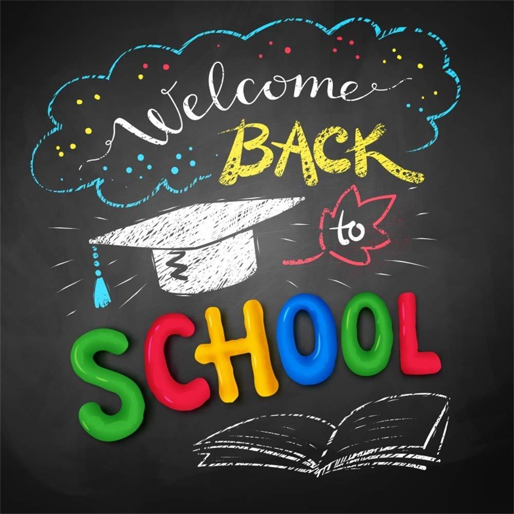 Amazon com : Laeacco 8x8ft Welcome Back to School Vinyl