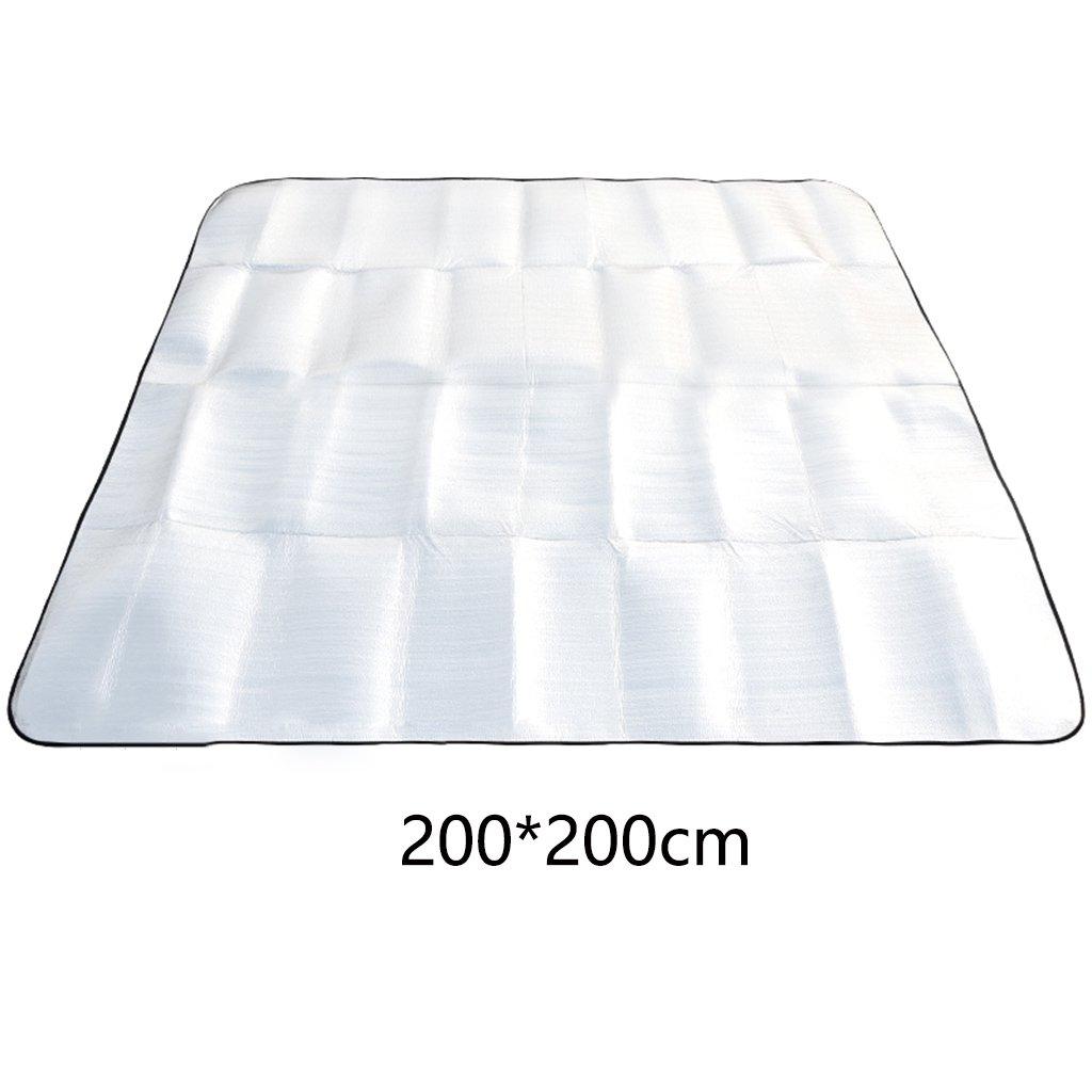 ERRU-Feuchtraum-Pad Outdoor Faltbarer doppelseitiger Aluminiumfilm Feuchtigkeitsfeste Campingmatten (200  200CM) Waterproof Feuchtigkeit