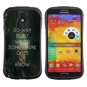 Suave TPU GEL Carcasa Funda Silicona Blando Estuche Caso de protección (para) Samsung Note 3 / CECELL Phone case / / Love Quote Text Message Valentines Gift /