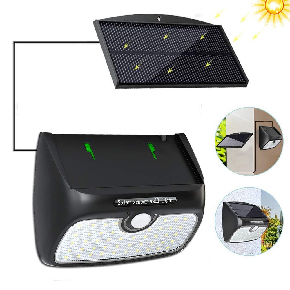 Solarleuchte LED Bewegungsmelder Solarlampe Außen Gartenlampe Hof Lampe