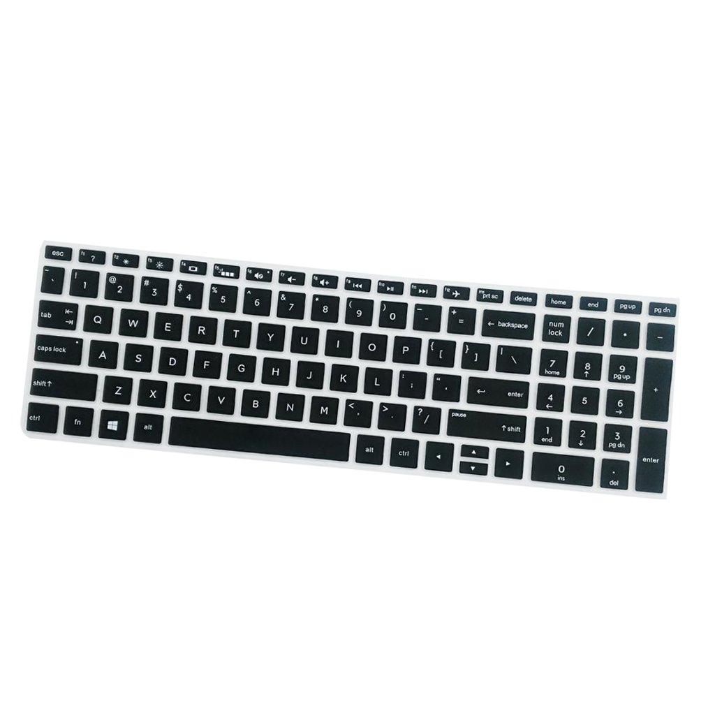 Negro B Blesiya Cubierta de Teclado Port/átil Impermeable Compatible con HP 15.6 Pulgadas BF Extra Delgada Protecci/ón contra Derrames y Polvo