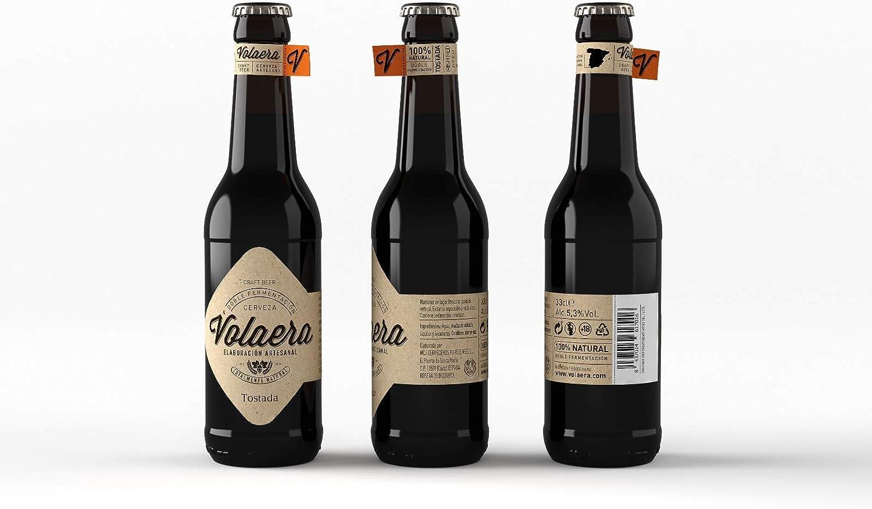 Tostada. Cerveza Artesana Volaera. Pack 12 botellines 33cl. Estilo IRISH RED.