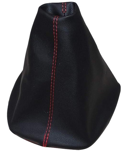 Funda para palanca de cambios de piel sint/ética con costuras de colores variables AERZETIX negro con costuras negro