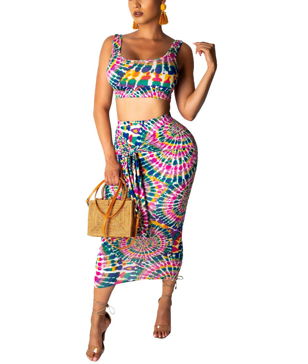 Womens 2 piece out fit with tank and skirt