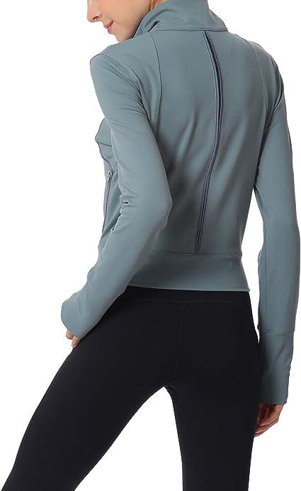 Amazon.com: Chaqueta de yoga con cremallera, ajustada, para ...