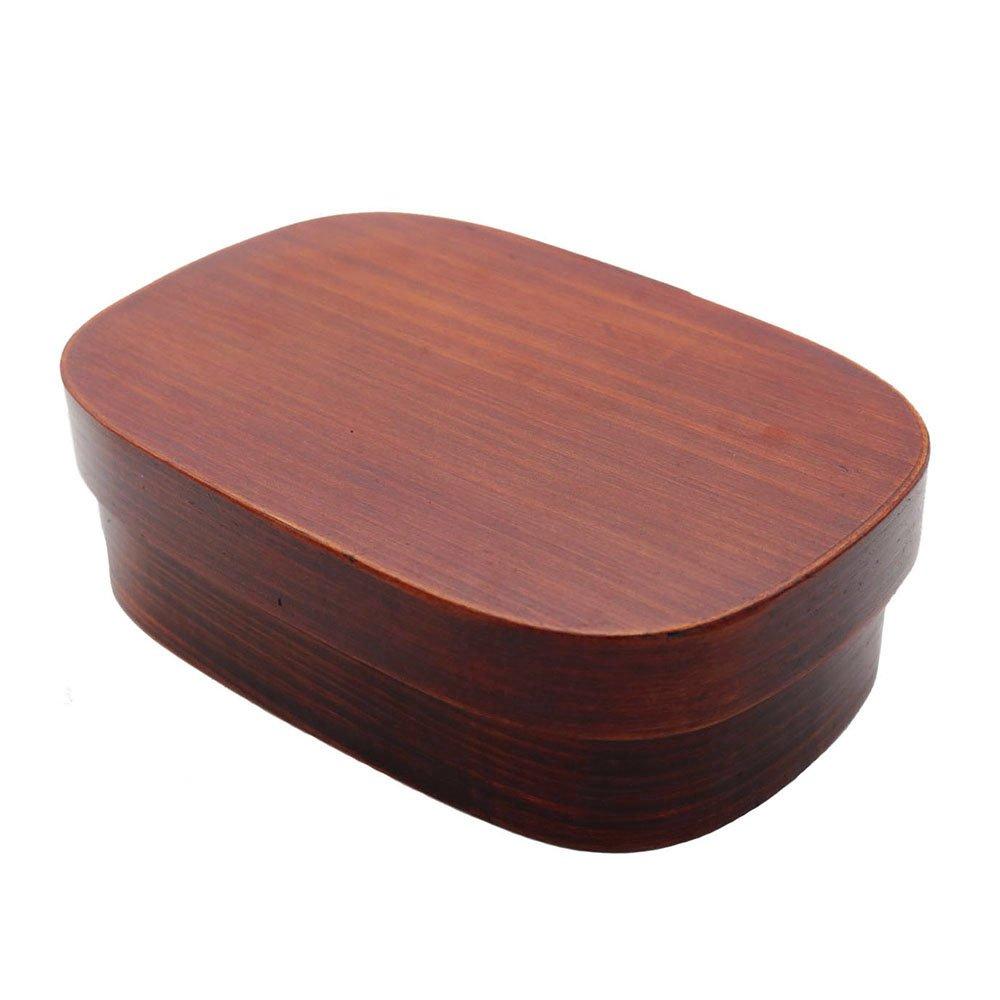Ecloud Shop Bento Boxes Wood Lunch Box Handmade Natural Wooden Sushi Box Tableware Bowl