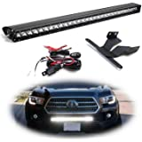 iJDMTOY Lower Grille Mount 30-Inch LED Light Bar Compatible With 2016-up Toyota Tacoma, Includes (1) 150W High Power…