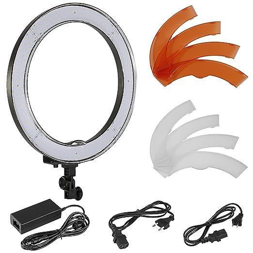 neewer luce ad anello led  Opinioni per 'Neewer Fotocamera Foto SMD LED di Luce ad anello