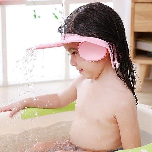Pixnor Bonnet de Douche B/éb/é Bonnet de Bain en Silicone R/églable B/éb/é Shampooing Protection Bonnet de Bain Casquette de Visi/ère de S/écurit/é pour B/éb/é B/éb/é Enfants Enfants B