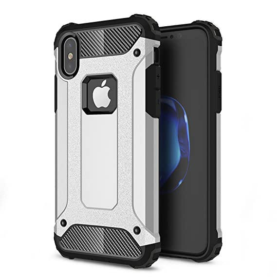 timeless design 29505 67169 iPhone X Shockproof Case, Impact Hybrid 2 in 1 Dual Layer Scratch  Protective Heavy Duty Case, Drop proof Dustproof Hard Back Cover for Apple  iPhone X ...