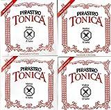 バイオリン弦 PIRASTRO TONICA トニカ 4/4サイズ 4弦セット(E線: ボールエンド)