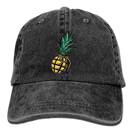 Cartoon Pineapple Baseball Caps Adult Sport Cowboy Trucker Hats Adjustable Black By - Stores Mall Lakeside In