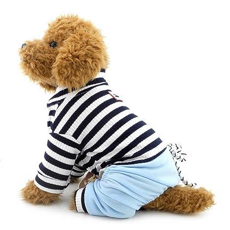 selmai traje para perros de talla pequeña con pantalones de ...