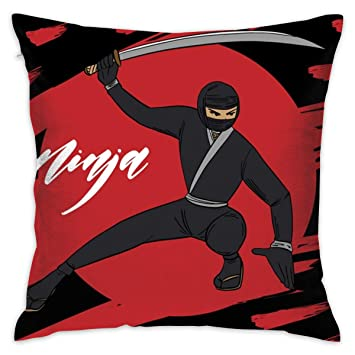 Amazon.com: LFCLOSET Ninja Warrior Background 18x18 Inch ...