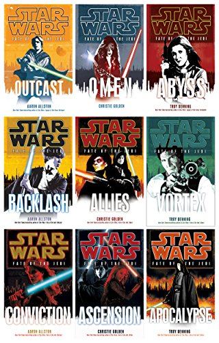 Star Wars New Jedi Order (19 Books), Legacy of the Force (9 Books) & Fate of the Jedi (9 Books) Complete 37 Book Set