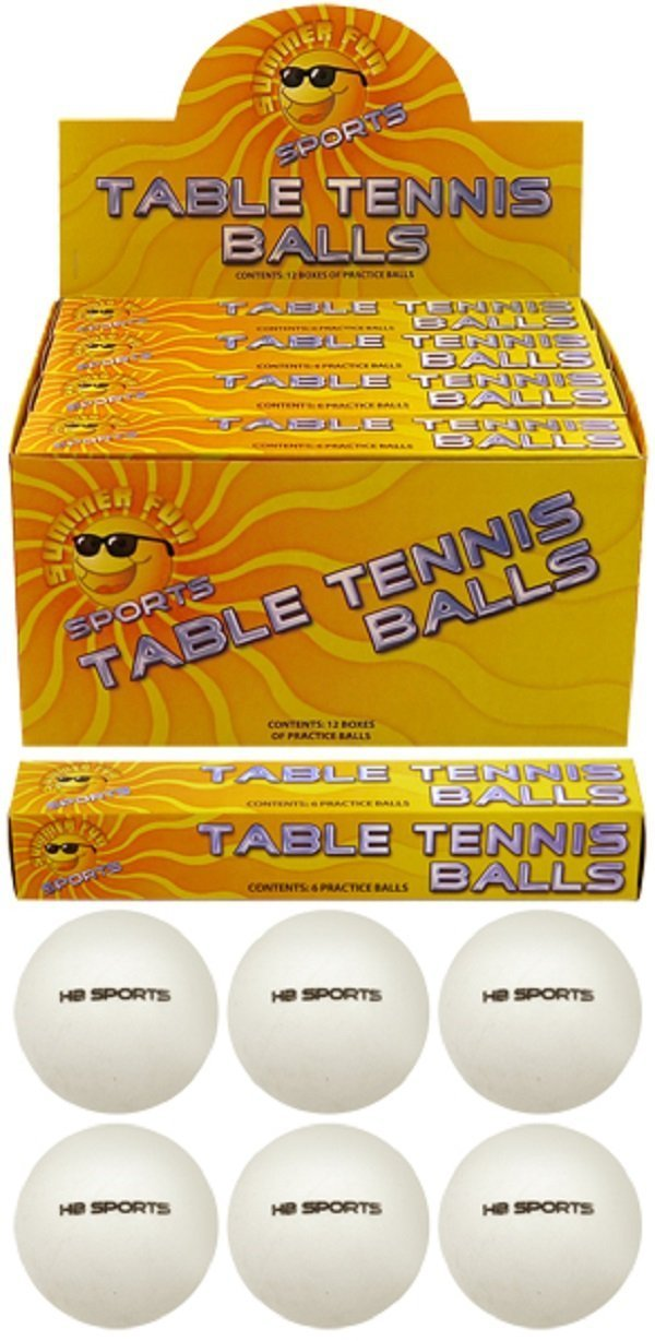 6 x Plain White (logo free) Special Quality Table Tennis Balls. 40mm. Unbranded