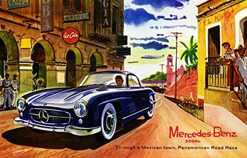 1955 mercedes benz 300sl panamerican road race for Vintage mercedes benz posters