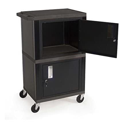 Luxor | H. Wilson Tuffy Utility Cart With Two Locking Cabinets    24u0026quot;Wx18u0026quot