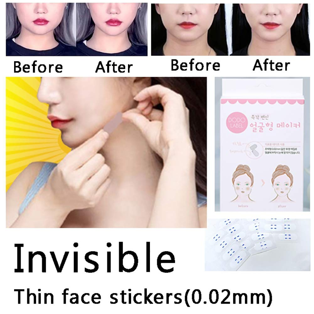 Face Lifting Mask, Invisible Face Lifting Patch Slim Thin Face Sticker Tape V Face Strap Stickers 40 PCS by Pretty Comy
