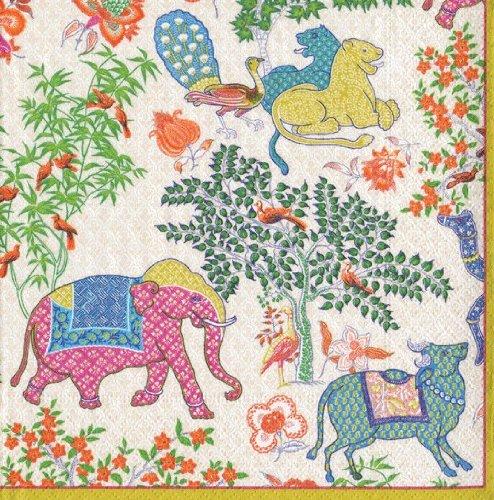 Caspari Napkins Floral Garden Party Paper Napkins Cocktail Napkins Le Jardin De Mysore Pk 40