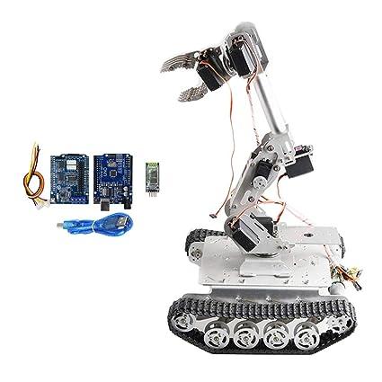 Amazon Com Homyl Bluetooth Diy Robot Arm Kit Robot