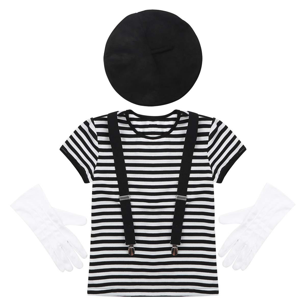 Agoky Disfraz de Mimo para Niña Niño Francés Mime Artist ...
