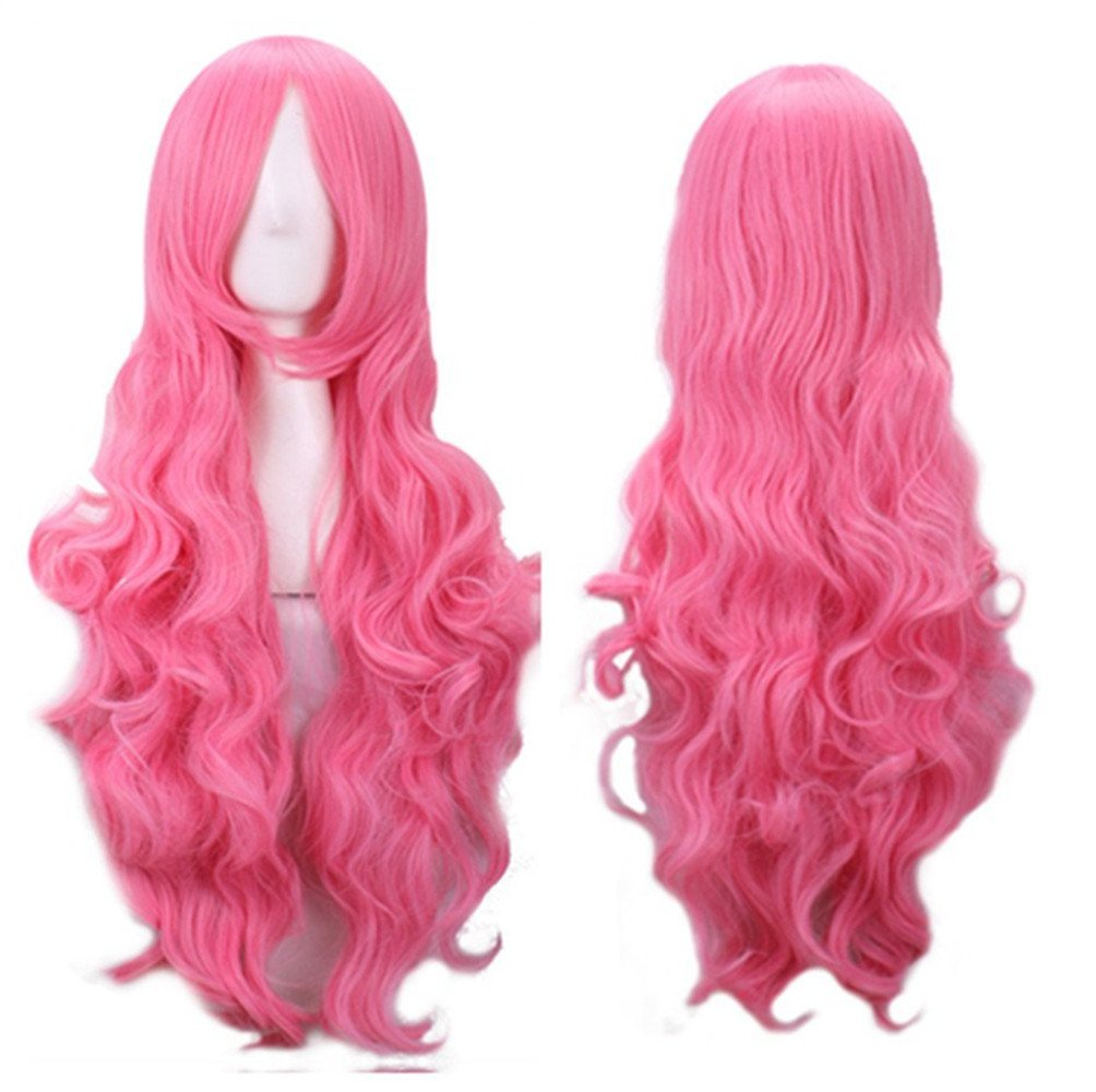 Aneshe 32 Fascinating Long Curly Hair Wig Costume Cosplay