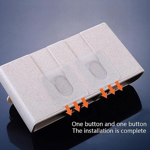 Pawaca - Dispensador de pasta de dientes, 3 tazas, soporte de pared para cepillos de dientes, soporte para cepillo de dientes de ducha, ...