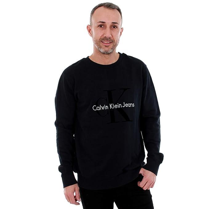 9b3588ccd6a3 Calvin Klein Jeans Felpa Uomo XS a Manica Lunga Nero J30J305942 099   Amazon.it  Abbigliamento