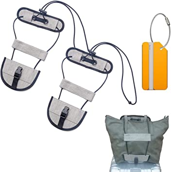 Gray Aviation Travel Luggage Strap Adjustable Suitcase Packing Belt