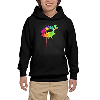 Hihi Hoodies Graffiti Paint Fish Forest Youth Boy Fashion Hoodies Pullover Sweatshirts Hooded Kangaroo Pockets